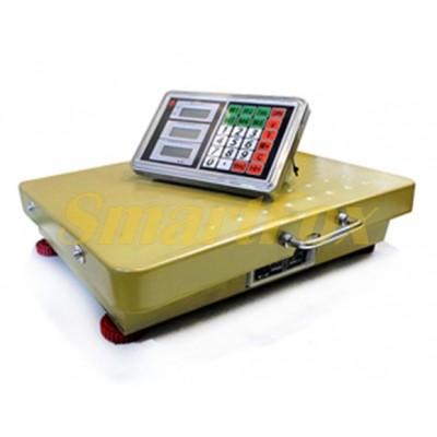 Весы электронные торговые WIFI BITEK YZ-WIFI-600KG-4560 до 600 кг gold (45х60 см)