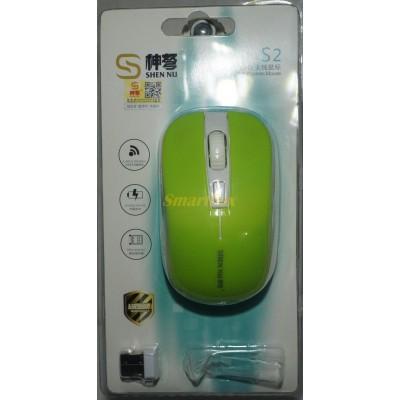 Мышь беспроводная S2 Зеленый