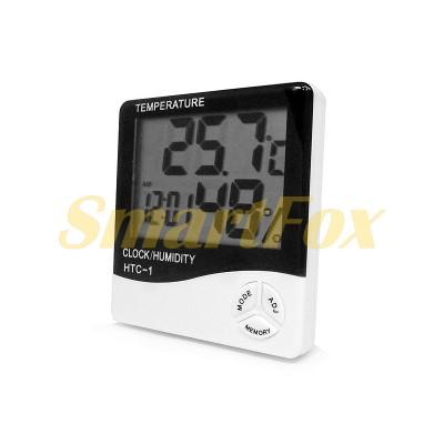 Термометр HTC-1 с часами и измерителем влажности
