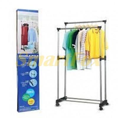 Стойка-вешалка для одежды двойная Double Pole 160х80