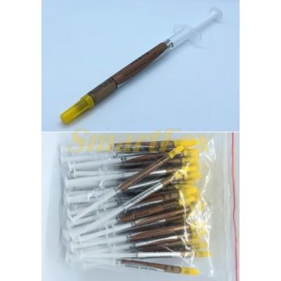 Термопаста желтая шприц маленький (упаковка 50 шт.)