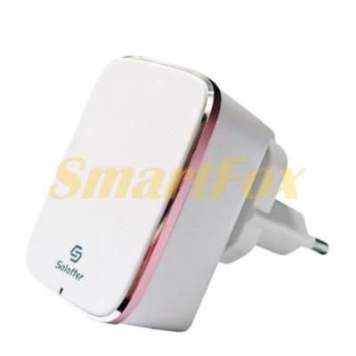 СЗУ USB Qualcomm Quick Charge 3.0 Soloffer 1101+ кабель microUSB (v8)