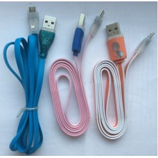 Кабель USB для IPHONE 5/6 плоский (74967)