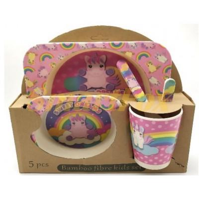 Набор детской посуды (бамбуковое волокно) SL-246-33
