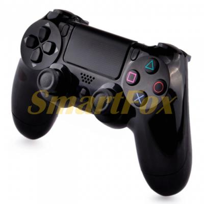Игровой манипулятор (джойстик) PS4 беспроводной c логотипом Черный