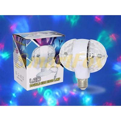 Светодиодная вращающаяся лампа-патрон двойная LY-399-2 (без обменов, без возвратов)