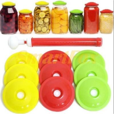 Вакуумный комплект для хранения и консервирования продуктов (насос и крышки) (MH 50)