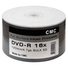 CMC Magnetics DVD-R 4,7 GB 16x Full-face inkjet printable white Bulk/50