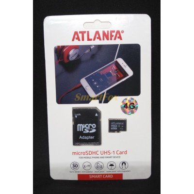 Карта памяти 4Gb ATLANFA microSDHC class 10 (adapter SD)