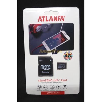 Карта памяти 4Gb ATLANFA microSDHC class 10 (adapter SD)