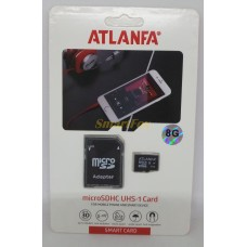 Карта памяти 8Gb ATLANFA microSDHC class 10 (adapter SD)