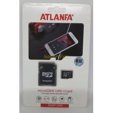 Карта памяти 8Gb ATLANFA microSDHC class 10 (adapter SD)