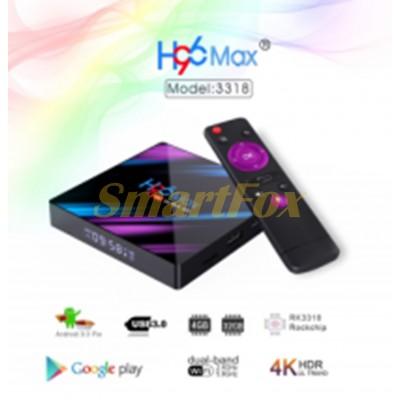 Приставка Smart TV Box H96 MAX (RK3318 4+32 Android 9.0+блютуз)