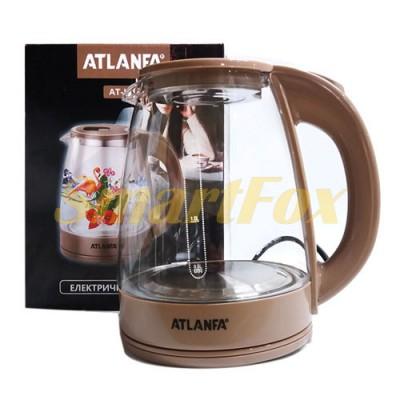 Электрочайник дисковый стеклянный с подсветкой 2.0л 1800ватт ATLANFA AT-H05