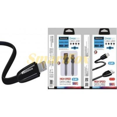 Кабель USB/TYPE-C REDDAX RDX-397 FLAT - TPE (1 м) BLACK