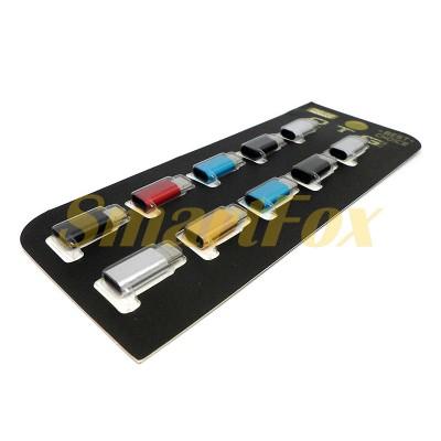 Адаптер OTG металлический microUSB/TYPE-C CY-2488 (цена за 1шт, минимальный заказ 10шт)