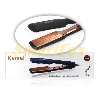 Утюжок для волос гофре Kemei KM-472