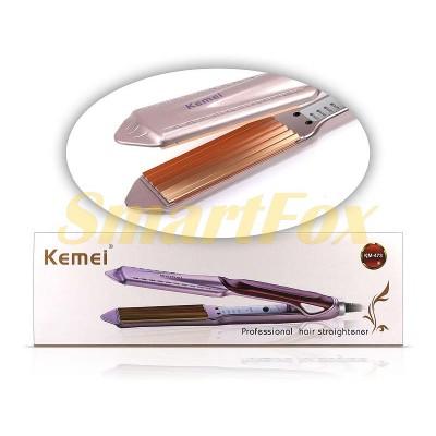 Утюжок для волос гофре Kemei KM-473