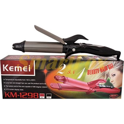Стайлер плойка и утюжок Kemei KM-1297 2в1