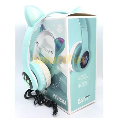 Наушники беспроводные Bluetooth УШКИ CATear VZV-23M LED (Зеленый)