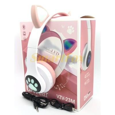 Наушники беспроводные Bluetooth УШКИ CATear VZV-23M LED (Розовый)
