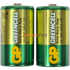 Батарейка GP GREENCELL Extra Heavy Duty 13G S2 (R20P, size D)