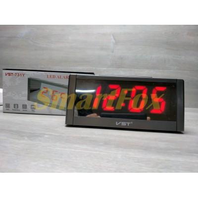 Часы настольные VST-731Y-1 с красной подсветкой (дисплей 7,5