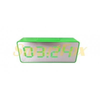 Часы настольные VST-886Y-4 с зеленой подсветкой (зеркальный дисплей 6,5