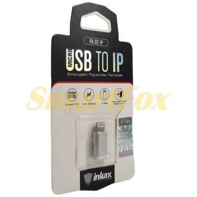 Адаптер microUSB/IPHONE 5 Inkax PA-02-IP
