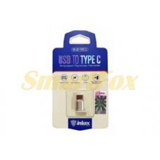 Адаптер microUSB/TYPE-C Inkax PA-02-TYPEC