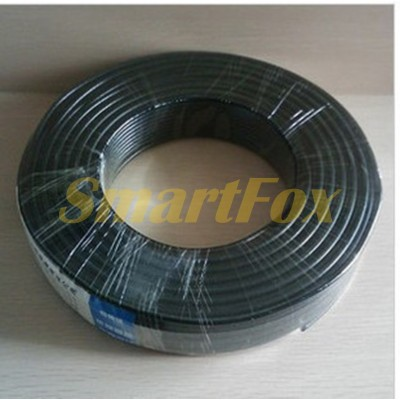 Кабель питания для видеонаблюдения (бухта) Fosvision RG58+2*0.5 video+power 75-3-1 P1 black (100 м)