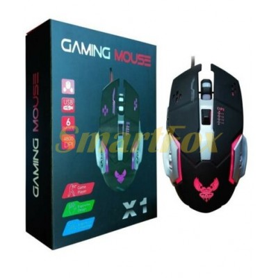 Мышь проводная игровая GAMING MOUSE X1