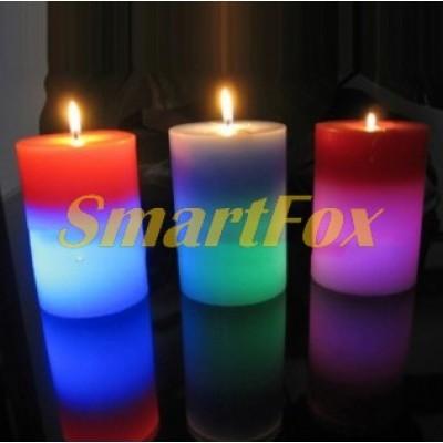 Свеча восковая с подсветкой