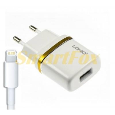 СЗУ USB LDINO DL-AC50 с Lightning WHITE