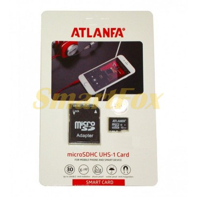Карта памяти 64Gb ATLANFA microSDHC class 10 (adapter SD)
