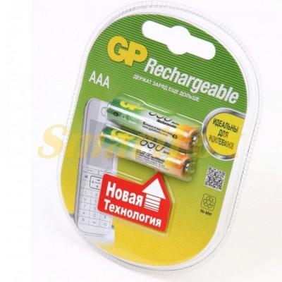 Аккумулятор GP Rechargeable R-03 850mAh (HR03,size AAA,NiMN) (цена за 1шт, продажа упаковкой 2шт)