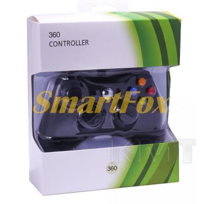 Игровой манипулятор (джойстик) X-BOX 360 проводной джойстик (черный с логотипом)