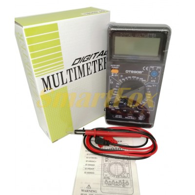 Мультиметр DT-890B+ многофункциональный цифровой с дисплеем и звуком оригинал