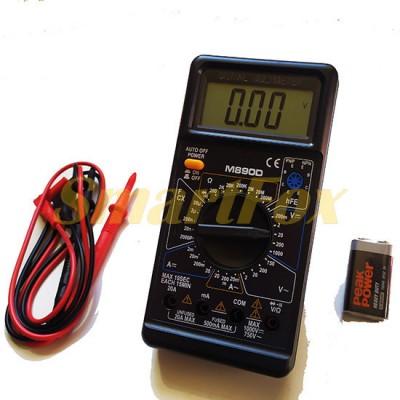 Мультиметр M-890D многофункциональный цифровой с дисплеем и звуком оригинал