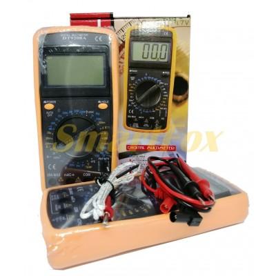 Мультиметр DT-9208A многофункциональный цифровой с дисплеем, звуком и датчиком температуры оригинал