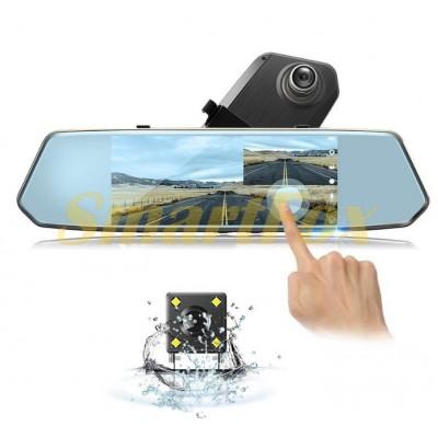 Авторегистратор-зеркало с камерой заднего вида L1007