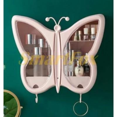 Полка-органайзер для косметики Бабочка W-32