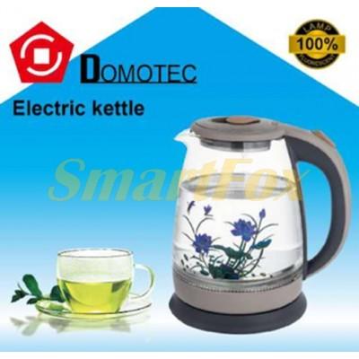 Электрочайник стеклянный Domotec DT-830 1,8л 2000Вт