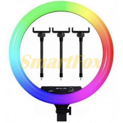 Лампа LED для селфи кольцевая светодиодная MJ14 RGB пульт 220V