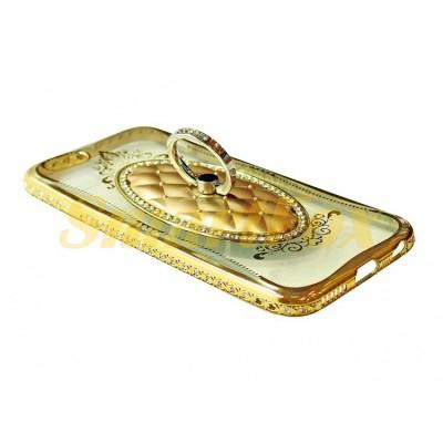 Чехол COV-030 для IPHONE 6/6S силиконовый прозрачный с колечком в овальной рамке