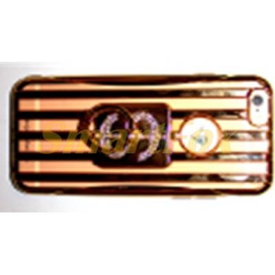 Чехол COV-034 силиконовый прозрачный с колечком на картинке ДОЛЛАР на IPHONE 6/6S