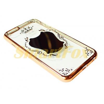 Чехол для IPHONE 5/5S силиконовый прозрачный ЗЕРКАЛО Good Luck