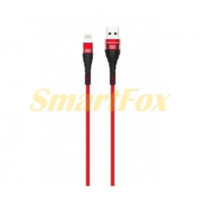 Кабель USB/IPHONE 5 REDDAX RDX-387 RED (1 м)