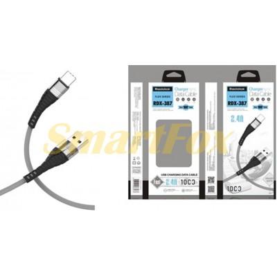 Кабель USB/IPHONE 5 REDDAX RDX-387 BLUE (1 м)