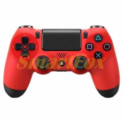 Игровой манипулятор (джойстик) PS4 беспроводной с логотипом Красный